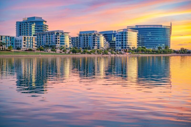 Tempe Arizona at sunset, Living in Phoenix Arizona real estate agents