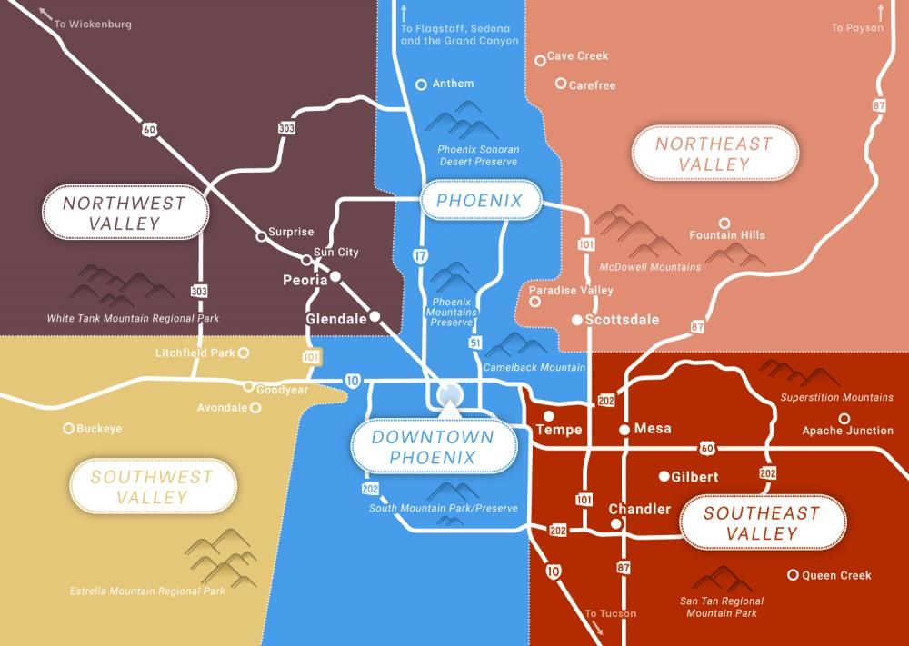 Phoenix Arizona Neighborhood map