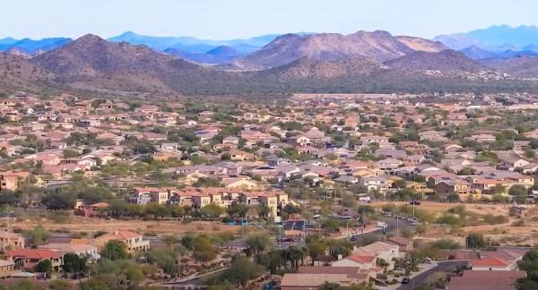 Peoria AZ neighborhood aerial, Peoria Arizona, Living in Phoenix real estate