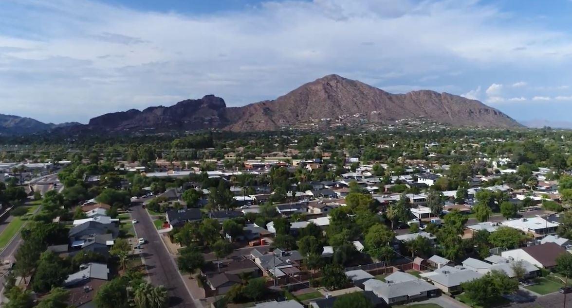 Peoria neighborhood aerial, Peoria Arizona, Living in Phoenix real estate