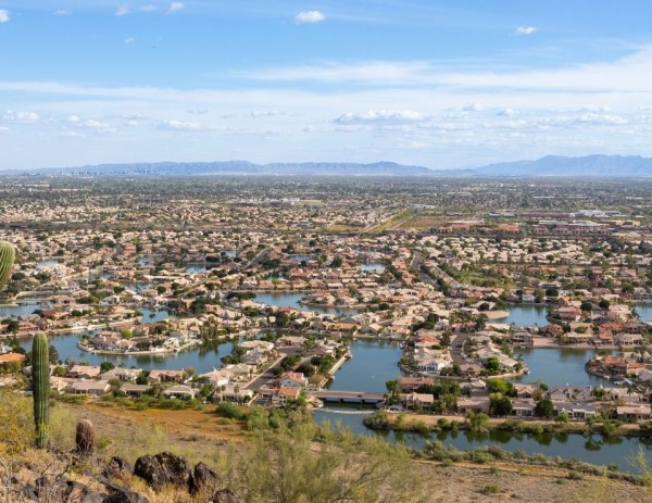 aerial view of Glendale AZ, Living in Glendale, Living in Phoenix real estate