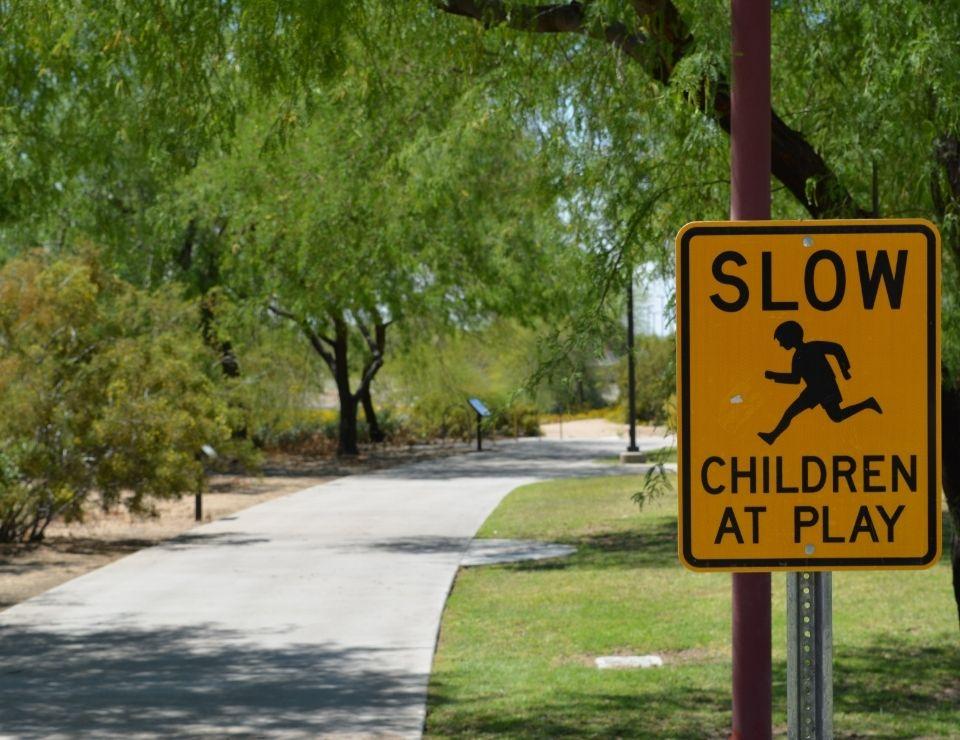 park sign in Glendale AZ, Living in Glendale, Living in Phoenix real estate