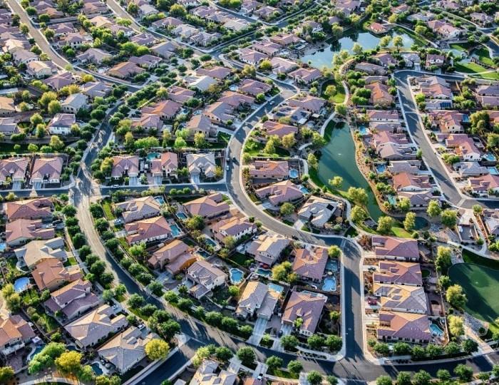 aerial view of a neighborhood in Phoenix Arizona, safest neighborhoods in phoenix arizona