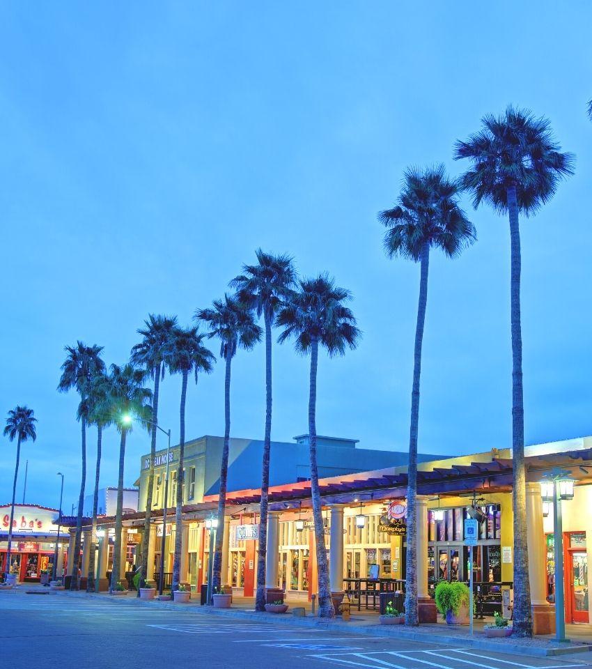 downtown Chandler Arizona at night