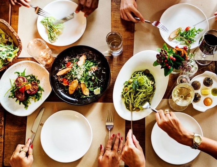 group meal on a table, top things to do in Phoenix Arizona.