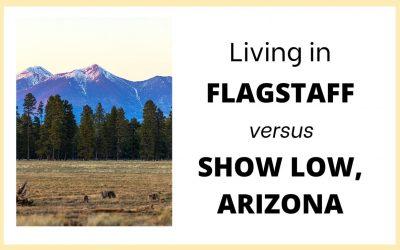 Where to live in Northern AZ- Flagstaff vs Show Low Arizona