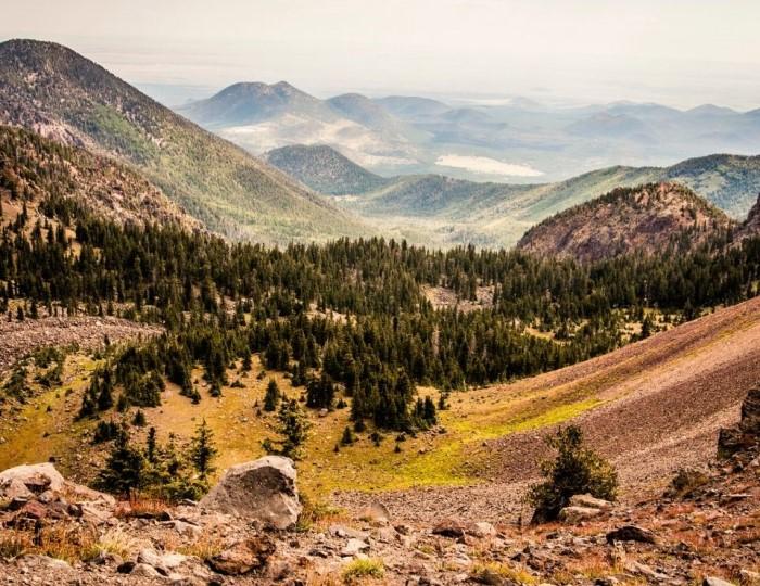Mountain landscape of Flagstaff AZ, Flagstaff vs Show Low Arizona