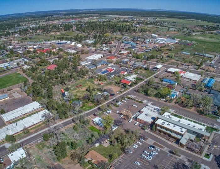 aerial view of Show Low Arizona, Flagstaff vs Show Low Arizona