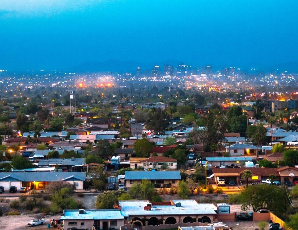 Phoenix neighborhood at dusk, Worst Neighborhoods to live in Phoenix, Arizona