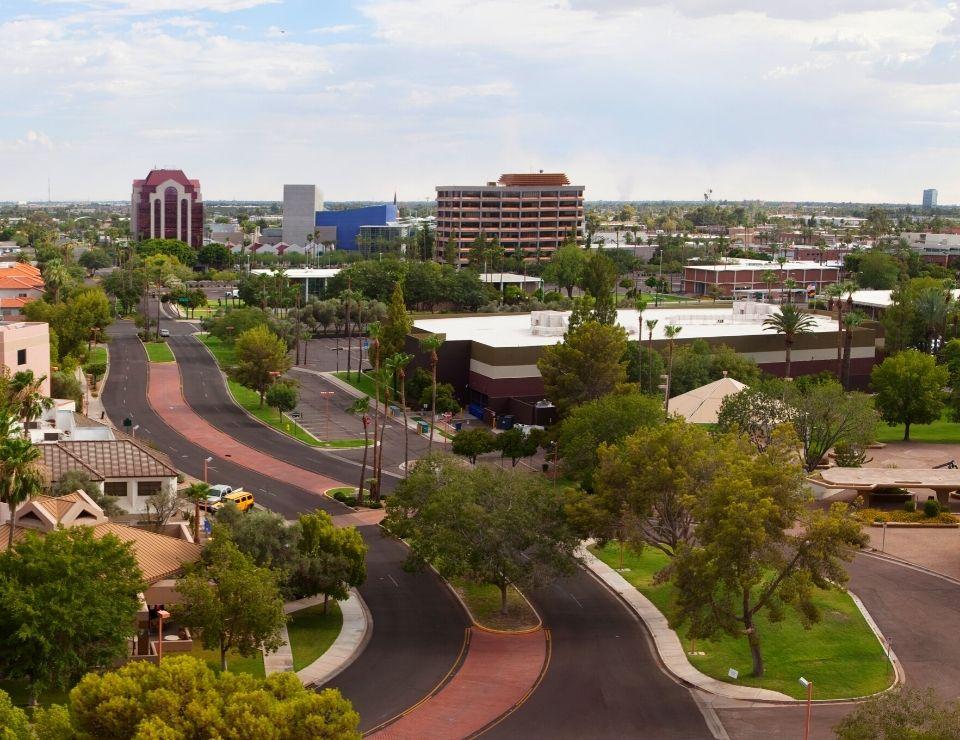 main street of Mesa Arizona, best suburbs to move to in Phoenix Arizona