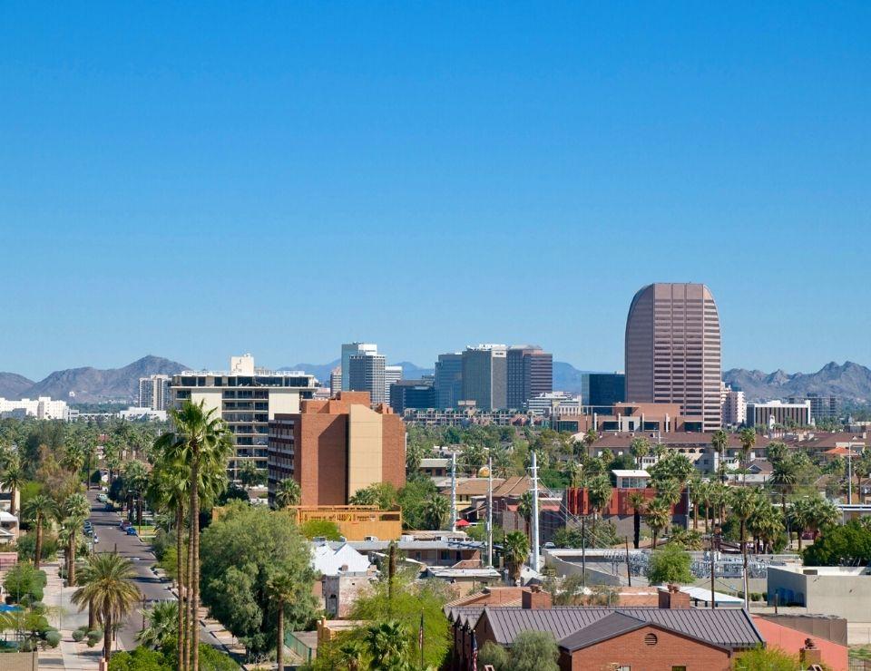 unique view of downtown area of Phoenix AZ, Worst Neighborhoods to live in Phoenix, Arizona