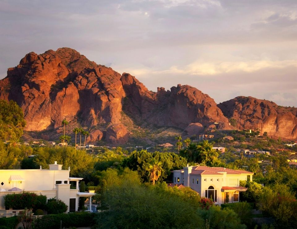 North North Scottsdale homes with view of Camelback Mountain
