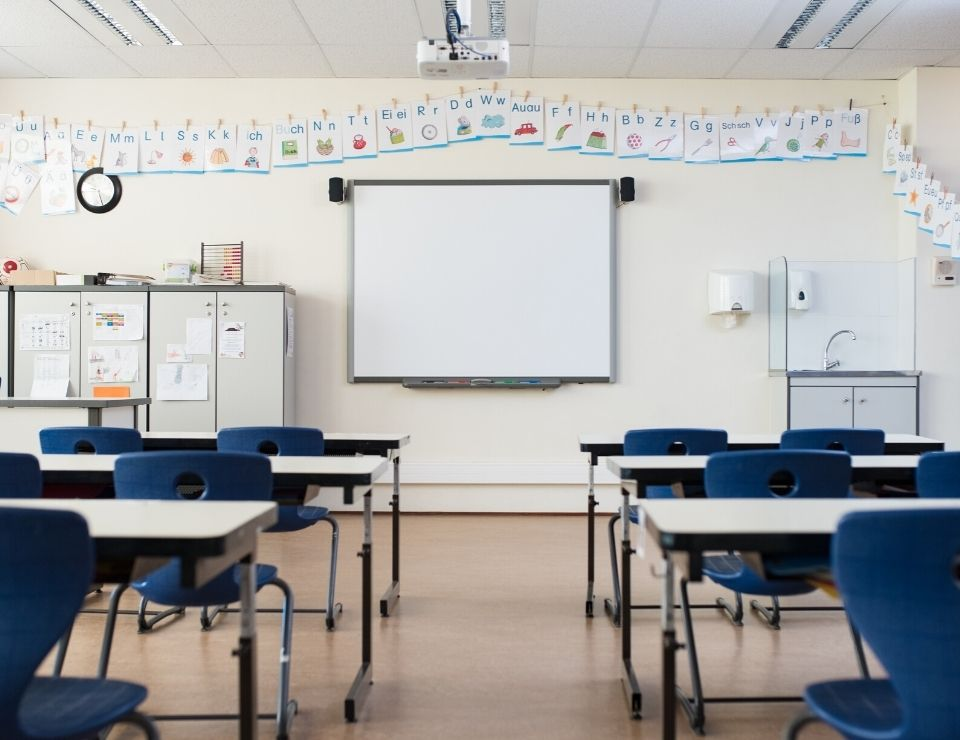 classroom with screen, Reasons why everyone is moving from CA to Phoenix