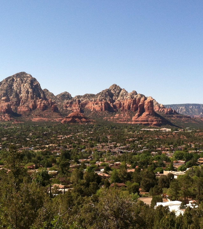 view of Black Mountain near Carefree Arizona neighborhood