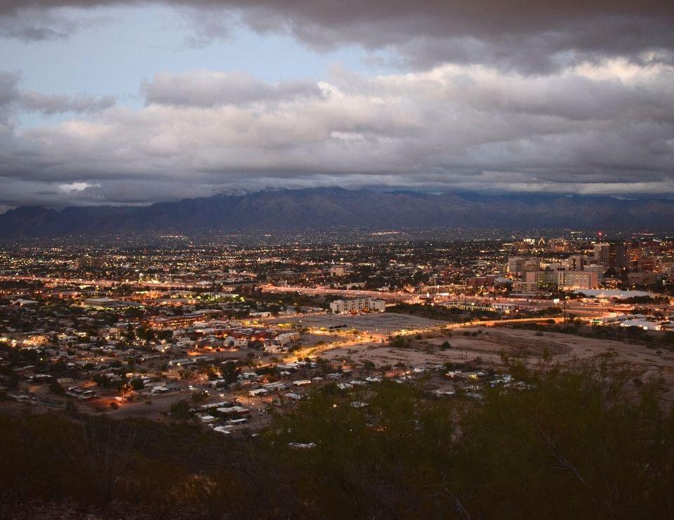 aerial view of Tempe Arizona at night, Living in Tempe Arizona