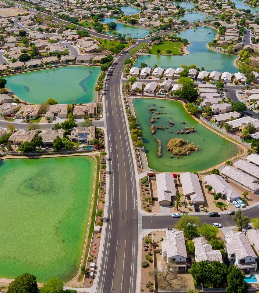 aerial view of single family homes in Avondale Arizona