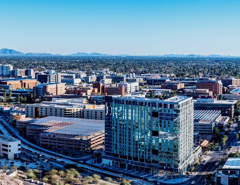 view of ASU in Tempe Arizona, Living in Tempe Arizona