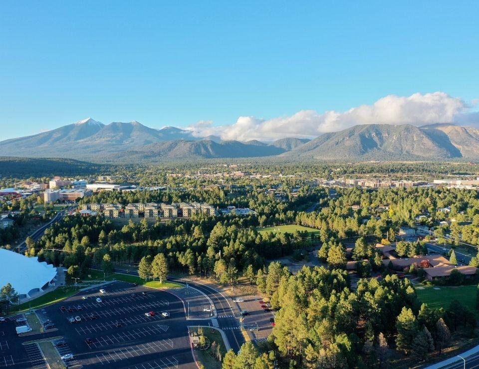 aerial view of Flagstaff AZ new development housing, Challenges when buying a home in Flagstaff, Az