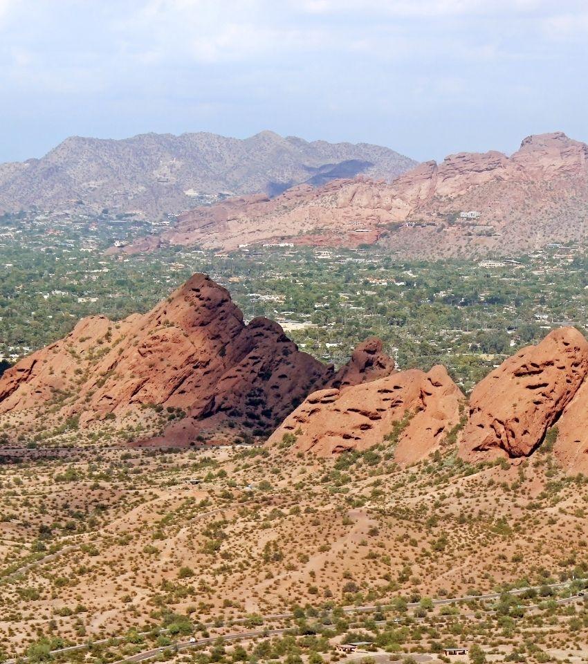 view of Phoenix Arizona landscape, Buckeye Arizona neighborhood of Phoenix
