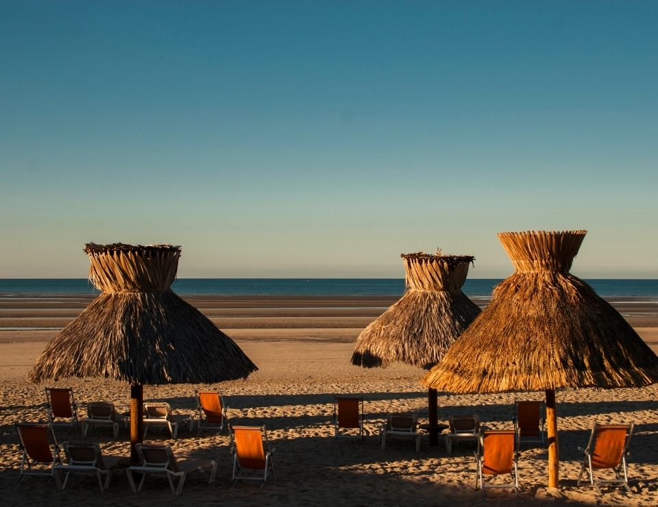 beach umbrellas at Rocky Point MEX, Traveling to Rocky Point, Mx